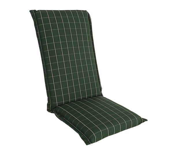 beo Hochlehnerpolster Ascot, Dessin Karo dunkelgrün, 120 x 52 x 8 cm