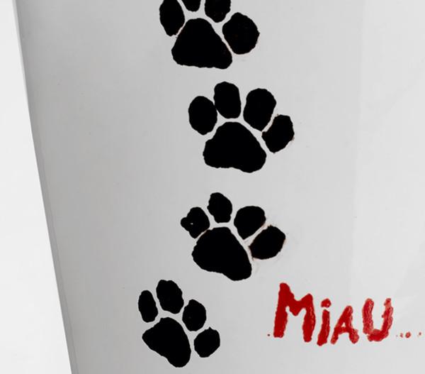 Übertopf aus Keramik, weiß, Ø 13 cm
