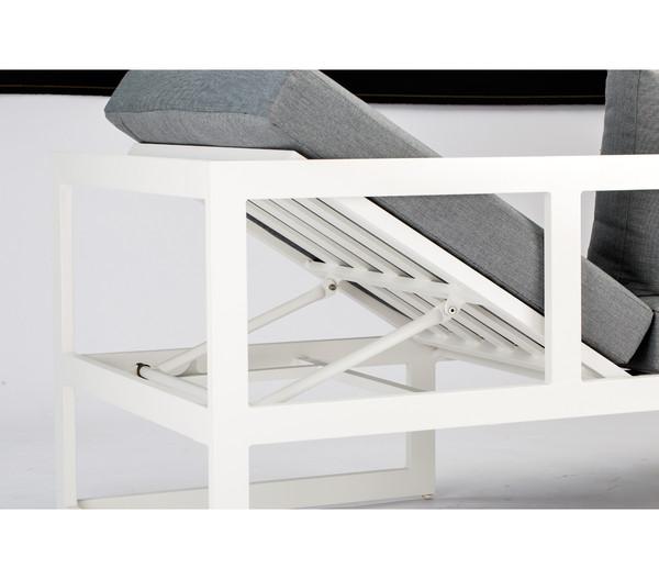 Best 3-teilige Loungegruppe Rhodos, Aluminium, anthrazit