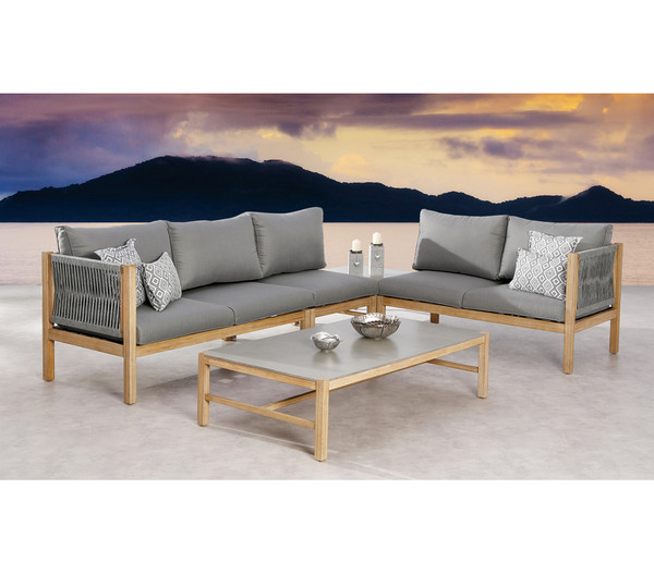 Best Lounge-Seitenteil Madagaskar, 2-Sitzer links, 144 x 74 x 84 cm