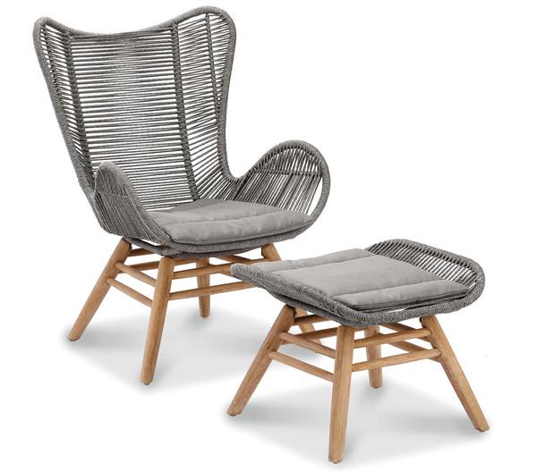 Best Relax-Lounge-Sessel mit Fußhocker Asmara