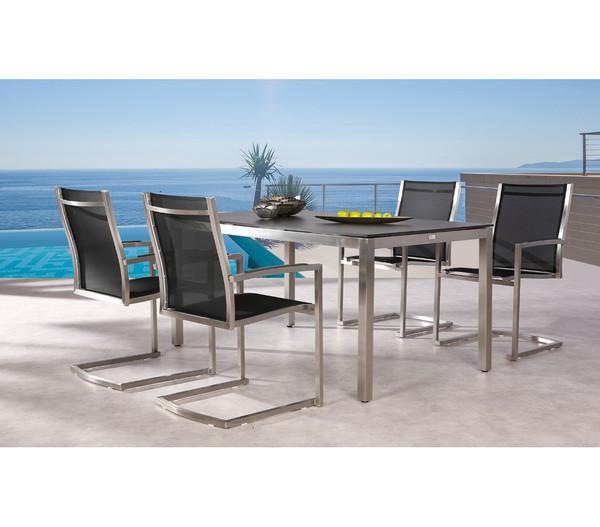Best Tisch Marbella 160x90x76 cm Edelstahl, schwarz