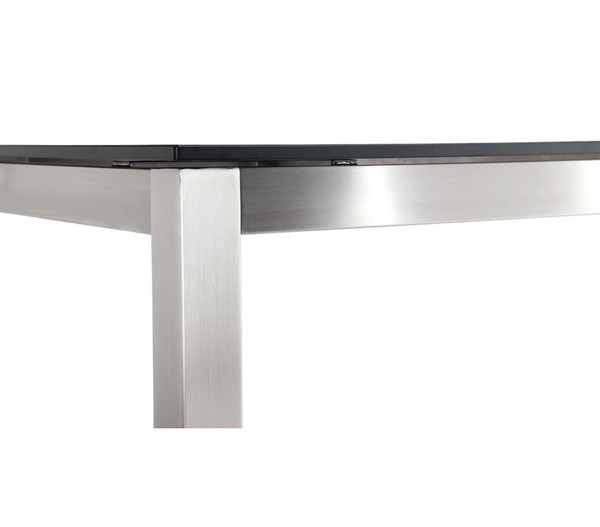 Best Tisch Marbella 210x100x76 cm Edelstahl, schwarz