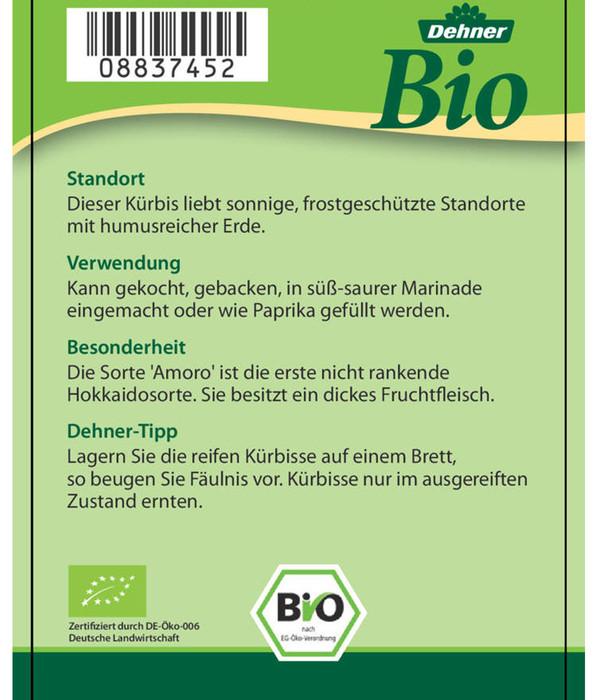 Bio Hokkaido 'Amoro', Pflanze