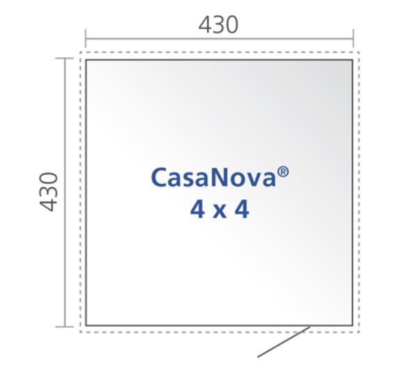 Biohort Gerätehaus CasaNova® 4 x 4