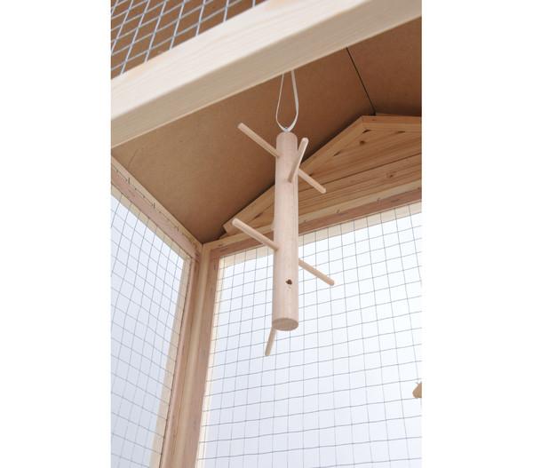 Bird Dream Holzvoliere mit Bitumen-Dach