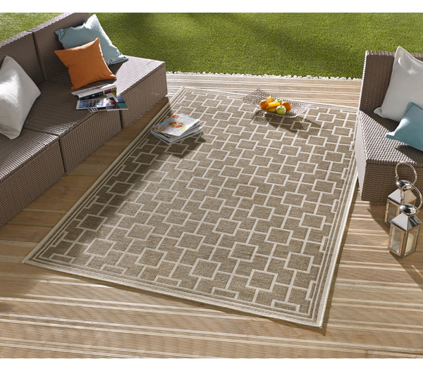 bougari in und outdoor teppich bay taupe 165 x 115 cm dehner. Black Bedroom Furniture Sets. Home Design Ideas