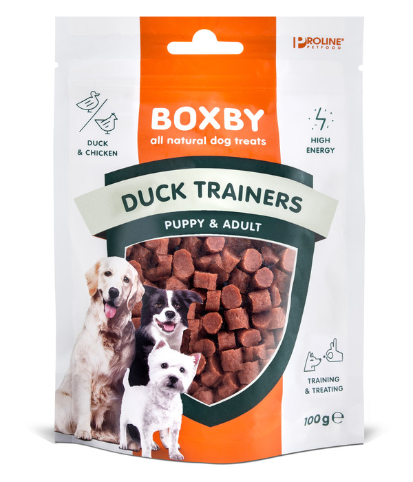 Boxby Duck Trainers, Hundesnack, 100 g