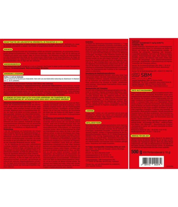 Brumolin® Ultra Rattenköder, 500 g