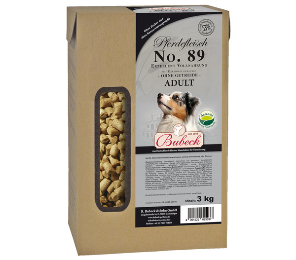 Bubeck No. 89 Adult, Pferdefleisch, Trockenfutter