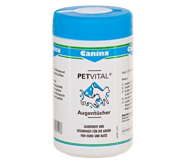 Canina Petvital Augentücher für Hunde und Katzen, 120 Stück