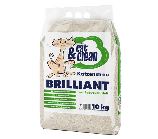 Cat & Clean Katzenstreu Brilliant mit Babypuderduft