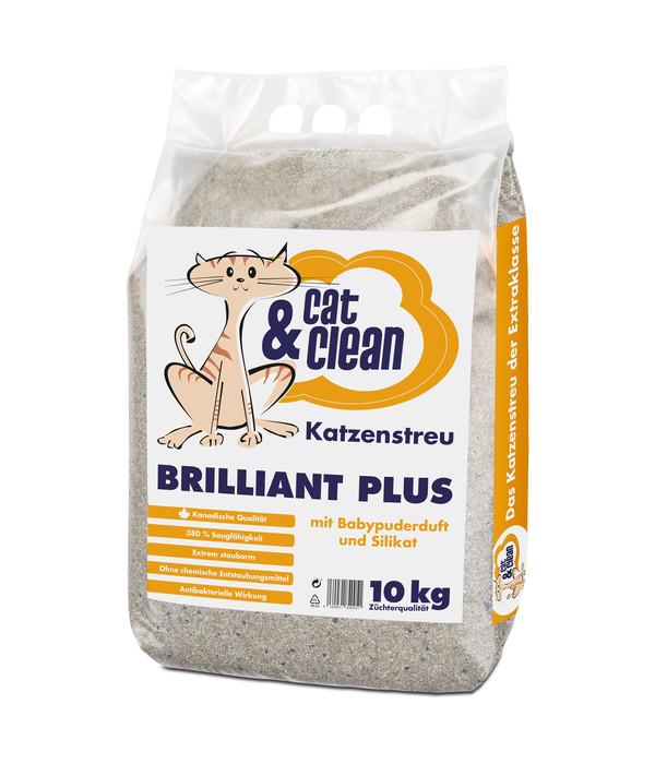 Cat & Clean Katzenstreu Brilliant Plus mit Babypuderduft