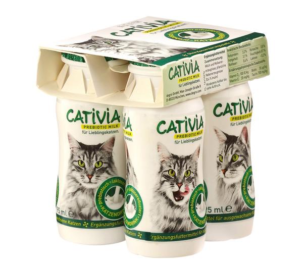 Cativia Katzenmilch, 6x4 Flaschen, Katzensnack