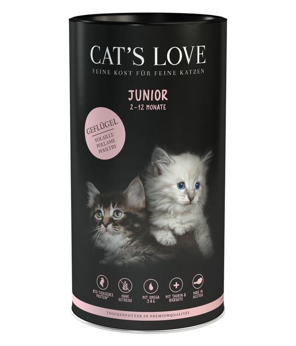 Cat's Love Trockenfutter Junior Geflügel, 6x1kg