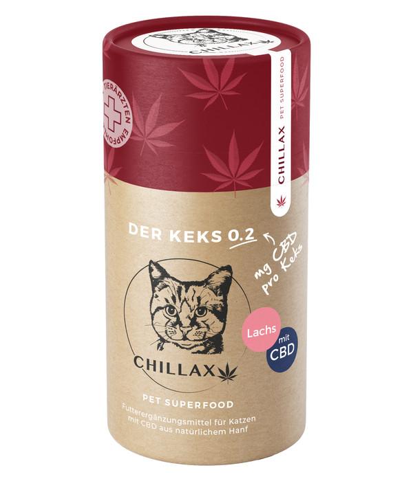 CHILLAX Ergänzungsfutter Katzenkekse CBD Lachs 0,2 mg