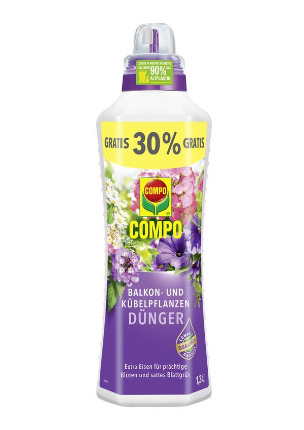 COMPO Balkon- und Kübelpflanzendünger, flüssig, 1,3 l