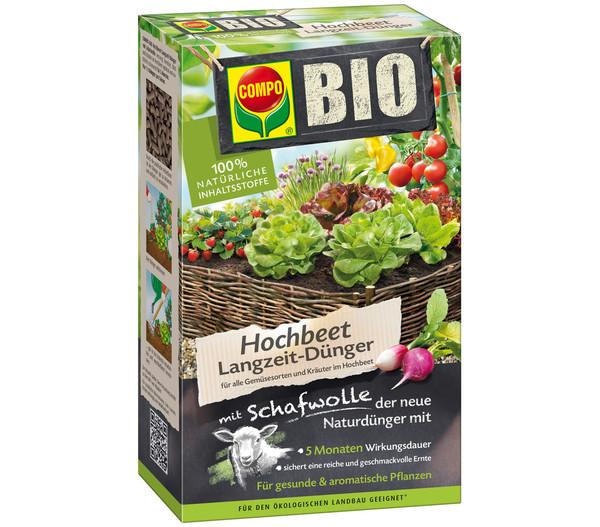 COMPO BIO Hochbeetdünger mit Schafwolle, 750 g
