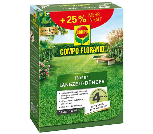 COMPO Floranid® Rasen-Langzeit-Dünger, 3,75 kg