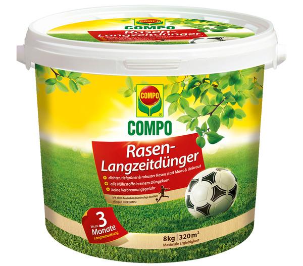 COMPO Rasen-Langzeitdünger, 8 kg