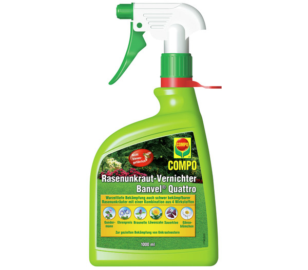 COMPO Rasenunkraut-Vernichter Banvel® Quattro, 1 Liter
