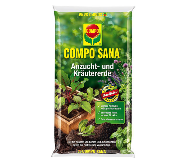 COMPO SANA® Anzucht- und Kräutererde, 5 l