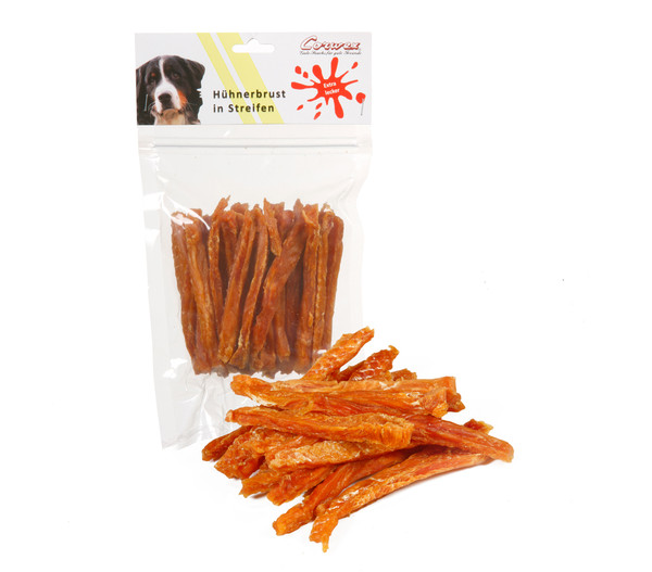 Corwex Hundesnack Hühnerbrust in Streifen