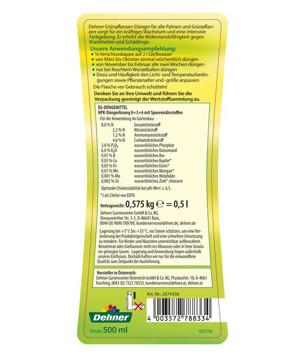 Dehner Grünpflanzen-Dünger, 500 ml