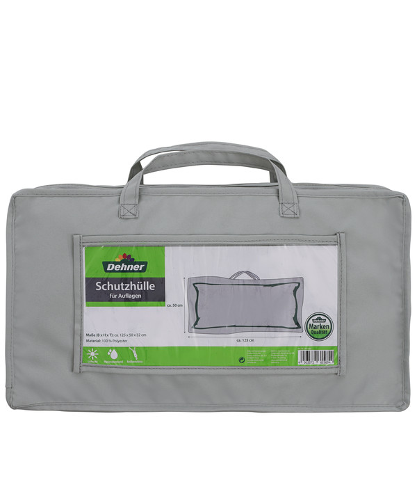 Dehner Abdeckhaube für Auflagen oder Kissen, 125x50x32 cm, grau