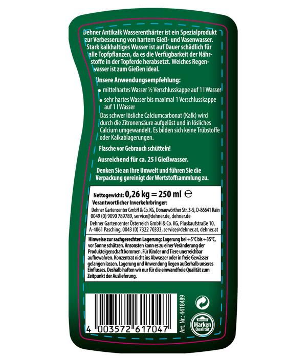 Dehner Antikalk Wasser-Enthärter, flüssig, 250 ml