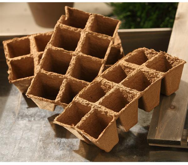 Dehner Anzuchttöpfe für Pflanzen, quadratisch 6 x 6 cm