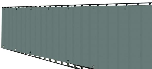 Dehner Balkonumspannung, 500x90 cm