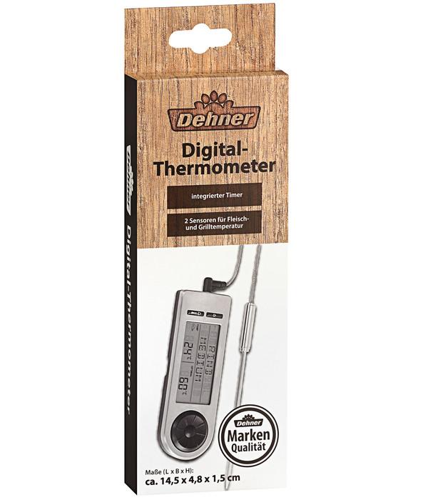 Dehner BBQ-Bratenthermometer digital, Edelstahl