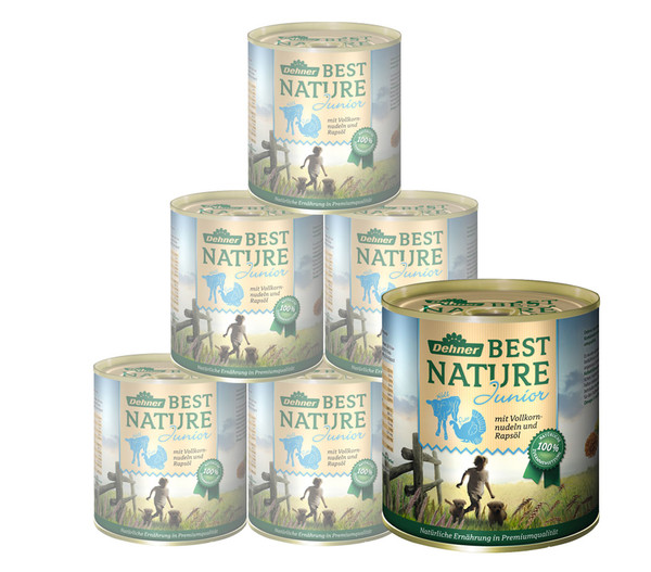 Dehner Best Nature für Hunde, Junior, Nassfutter, 6 x 400g/800g