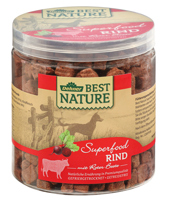 Dehner Best Nature Hundesnack Superfood Rind mit Roter Beete
