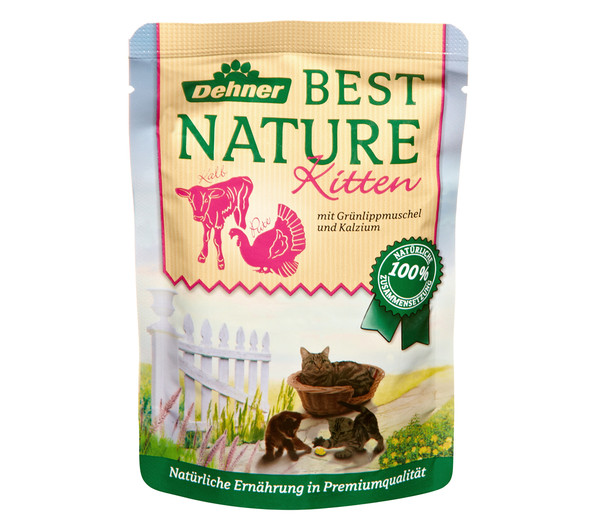 Dehner Best Nature Kitten, Nassfutter, 16 x 85g