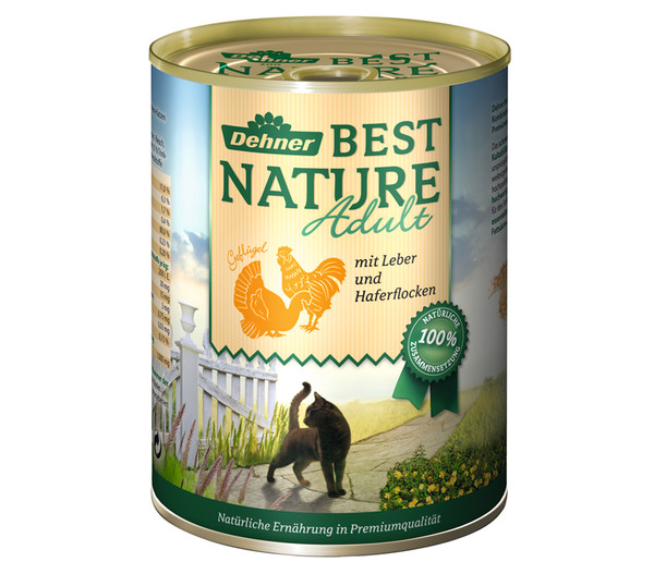 Dehner Best Nature Nassfutter Adult, 6x200 g/400 g