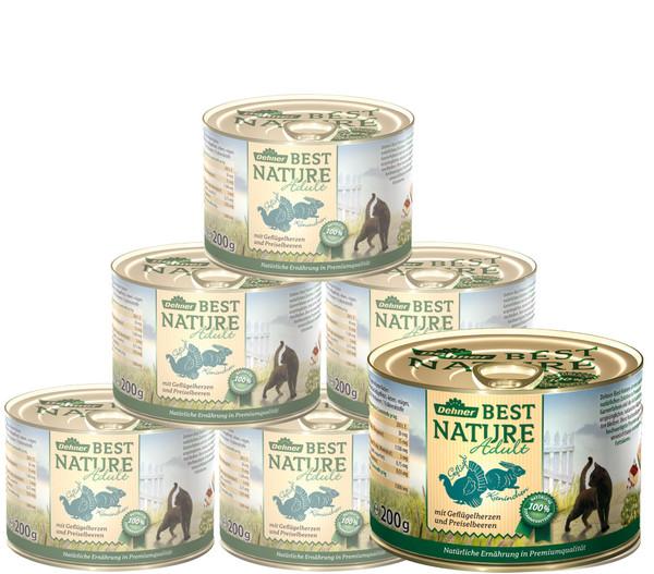 Dehner Best Nature Nassfutter Adult, 6x200 g/400 g