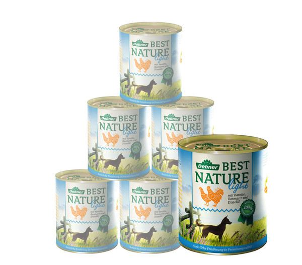 Dehner Best Nature Nassfutter Light, 6x400 g/800 g