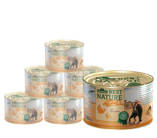Dehner Best Nature Nassfutter Orient, Pute & Wachtel, 6x200 g/400 g