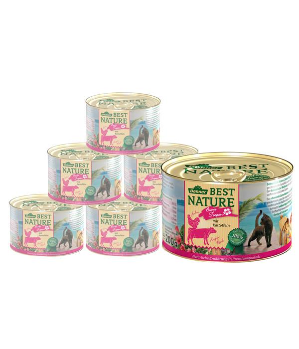 Dehner Best Nature Nassfutter Tropen, Angus Rind & Huhn, 6x200 g/400 g