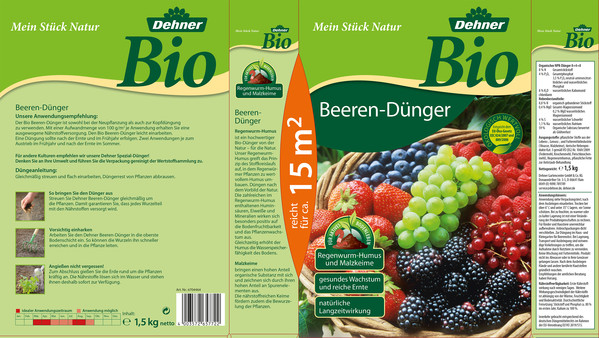 Dehner Bio Beeren-Dünger, 1,5 kg
