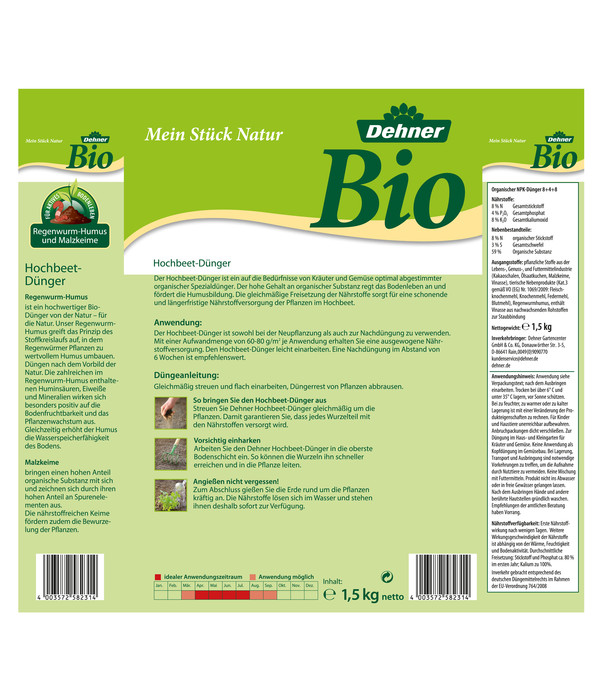 Dehner Bio Hochbeet-Dünger, 1,5 kg