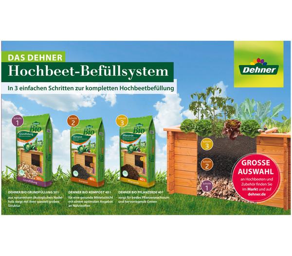 Dehner Bio Hochbeet-Pflanzerde, 40 Liter