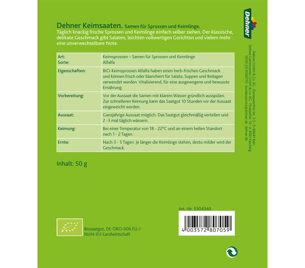Dehner Bio Keimsprossen Alfalfa