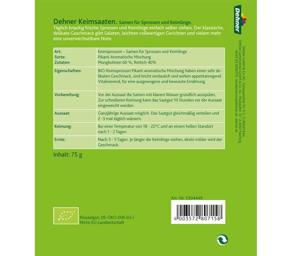 Dehner Bio Keimsprossen Pikant-Aromatische Mischung
