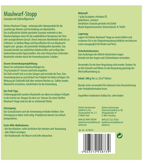 Dehner Bio Maulwurf-Stopp, 500 g