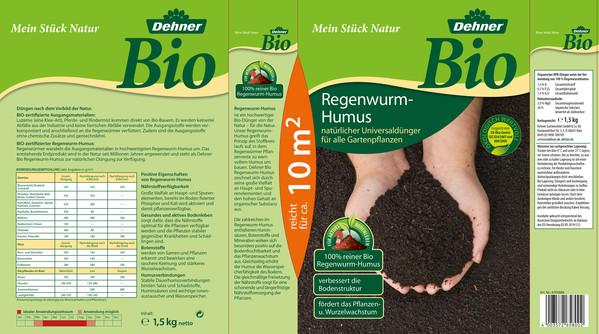 Dehner Bio Regenwurm-Humus, 1,5 kg