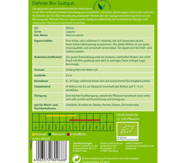 Dehner Bio Samen für Möhren 'Laguna'