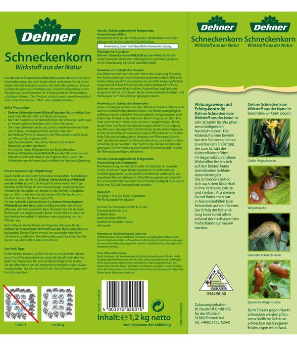 Dehner Bio Schneckenkorn - Wirkstoff aus der Natur, 1,2 kg